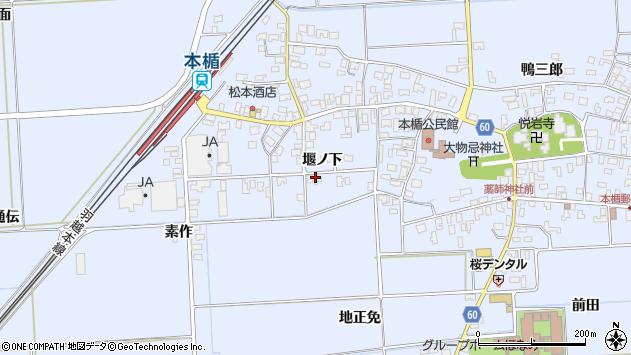 山形県酒田市本楯堰ノ下42周辺の地図