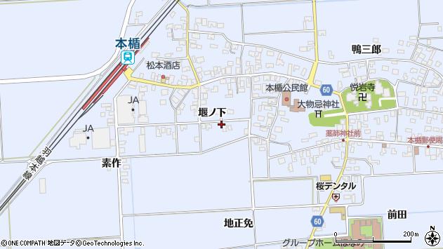 山形県酒田市本楯堰ノ下44周辺の地図