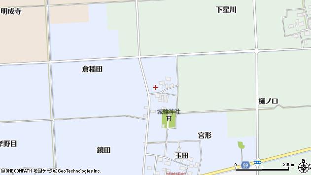 山形県酒田市城輪倉稲田38周辺の地図