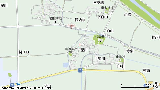 山形県酒田市大豊田星川23周辺の地図