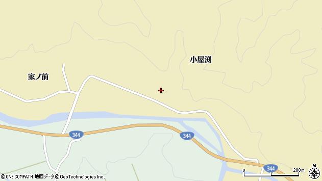 山形県酒田市北青沢小屋渕周辺の地図
