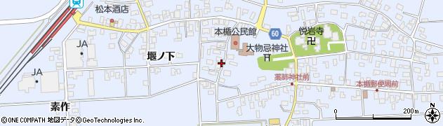 山形県酒田市本楯新田目100周辺の地図