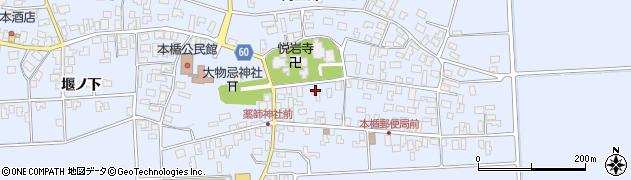 山形県酒田市本楯新田目21周辺の地図