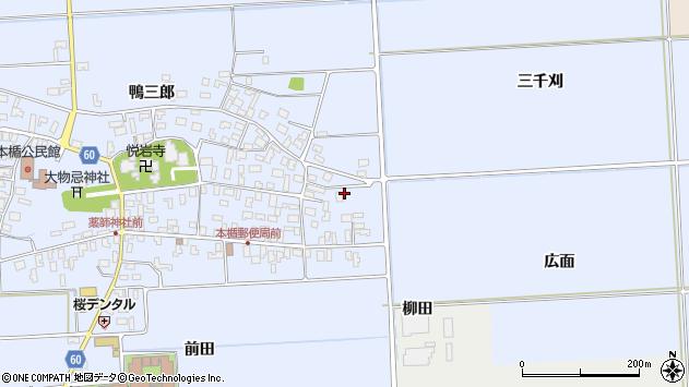 山形県酒田市本楯広面39周辺の地図