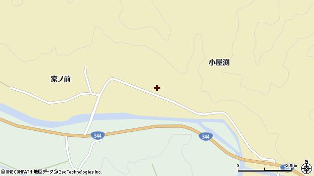 山形県酒田市北青沢家ノ前周辺の地図