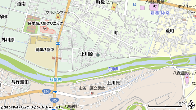山形県酒田市小泉上川原19周辺の地図