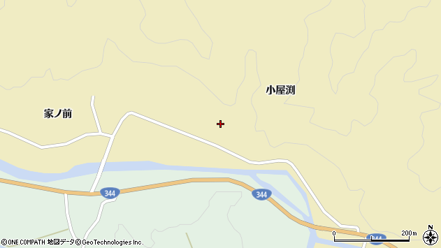 山形県酒田市北青沢小屋渕35周辺の地図