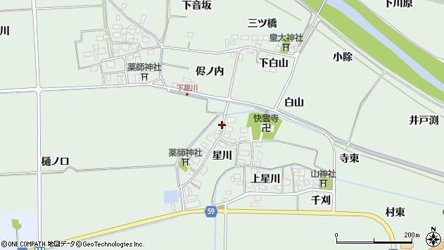 山形県酒田市大豊田星川21周辺の地図