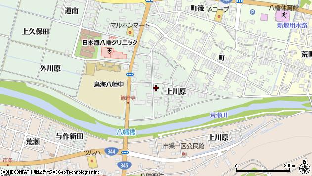 山形県酒田市小泉上川原周辺の地図