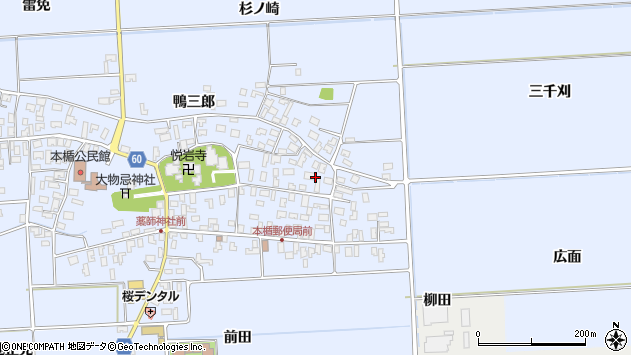 山形県酒田市本楯新田目48周辺の地図