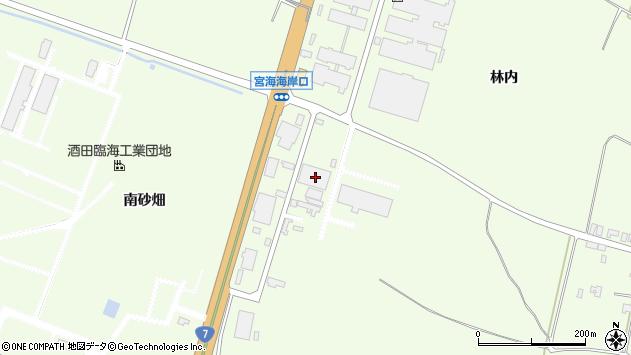 山形県酒田市宮海中砂畑周辺の地図