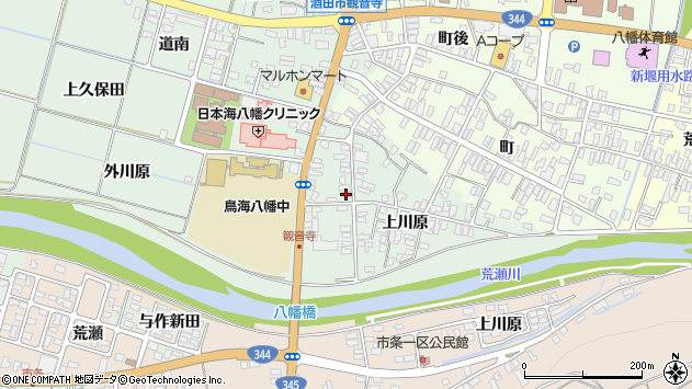 山形県酒田市小泉上川原48周辺の地図