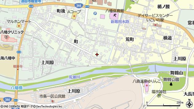 山形県酒田市観音寺町52周辺の地図