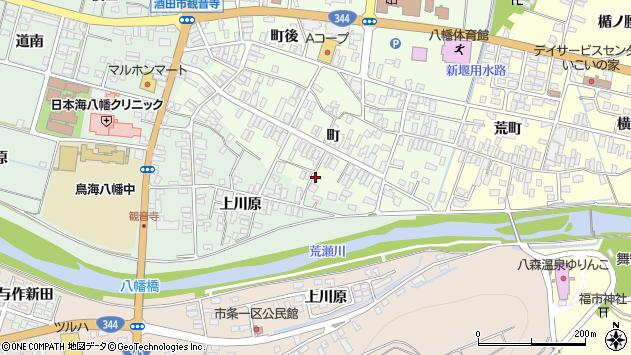 山形県酒田市観音寺町160周辺の地図