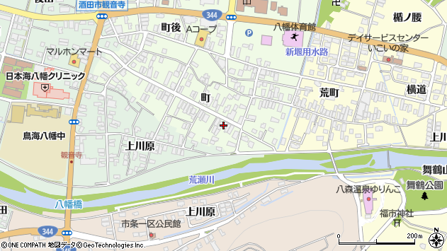 山形県酒田市観音寺町146周辺の地図
