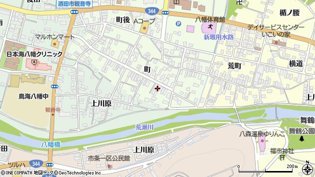 山形県酒田市観音寺町145周辺の地図