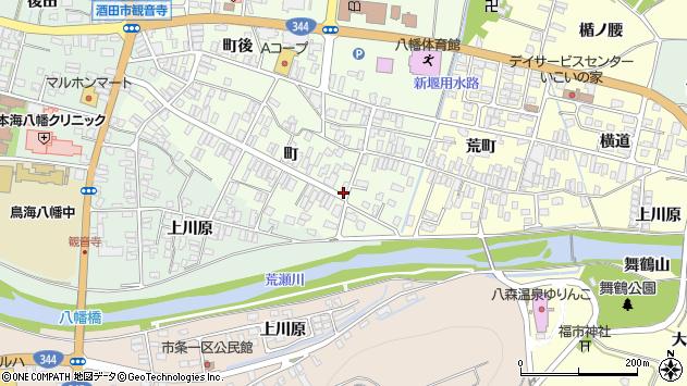 山形県酒田市観音寺町56周辺の地図