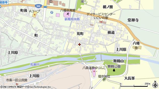 山形県酒田市麓荒町18周辺の地図