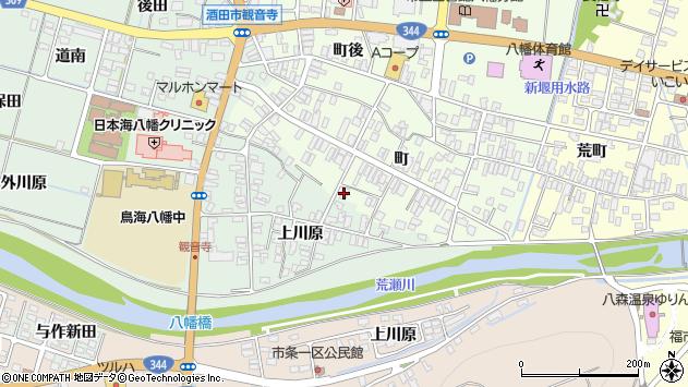 山形県酒田市観音寺町165周辺の地図