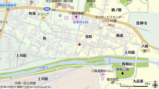 山形県酒田市麓荒町30周辺の地図