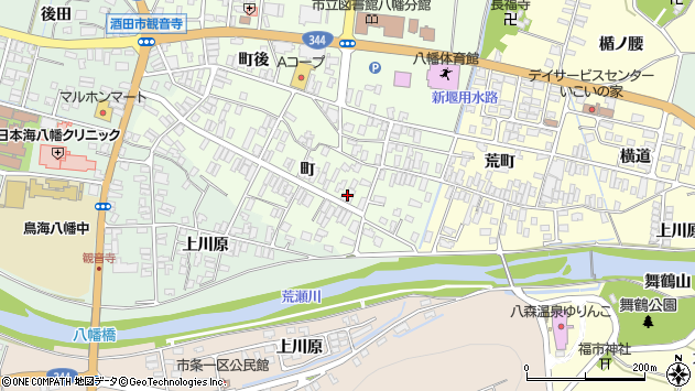 山形県酒田市観音寺町59周辺の地図