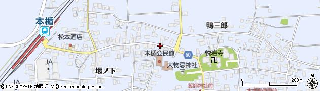 山形県酒田市本楯新田目167周辺の地図