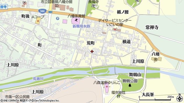 山形県酒田市麓荒町46周辺の地図