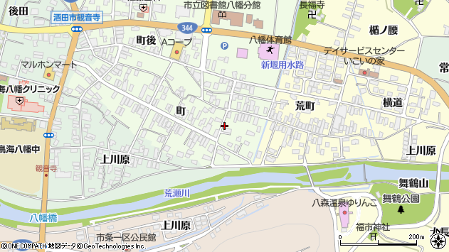 山形県酒田市観音寺町41周辺の地図