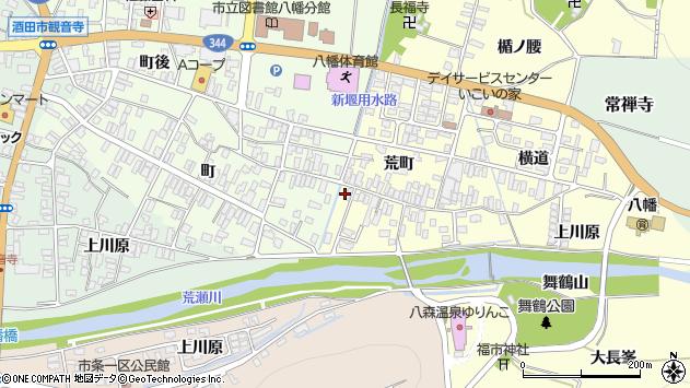 山形県酒田市麓荒町34周辺の地図