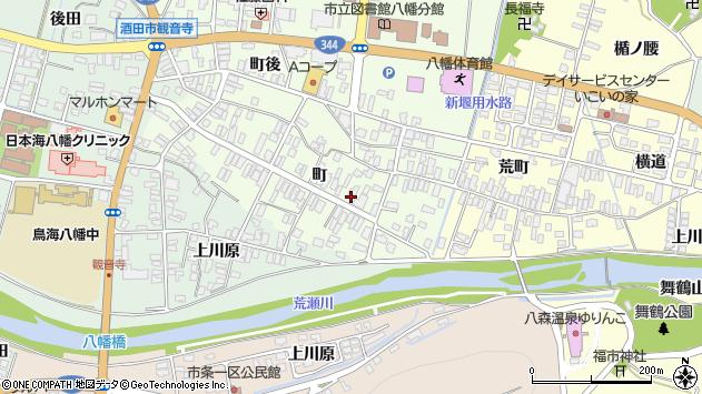 山形県酒田市観音寺町62周辺の地図