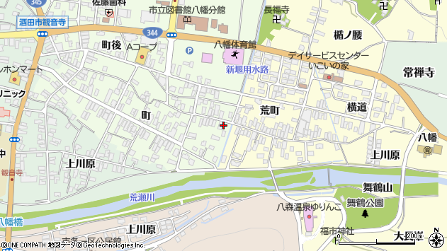 山形県酒田市観音寺町49周辺の地図