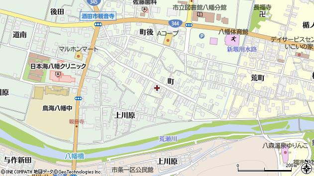 山形県酒田市観音寺町136周辺の地図