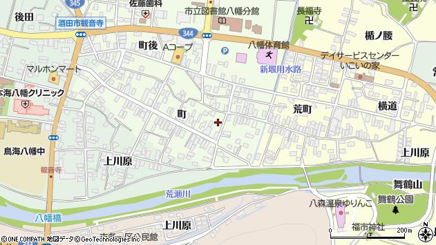 山形県酒田市観音寺町38周辺の地図