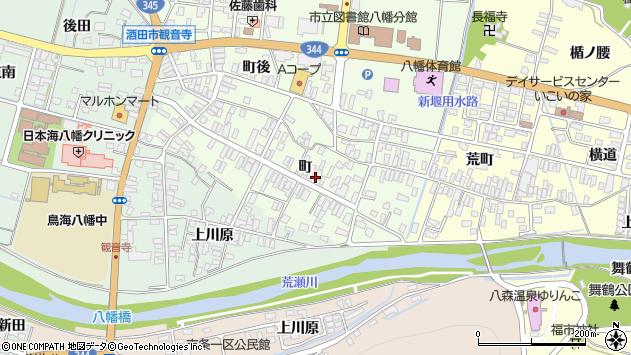 山形県酒田市観音寺町67周辺の地図