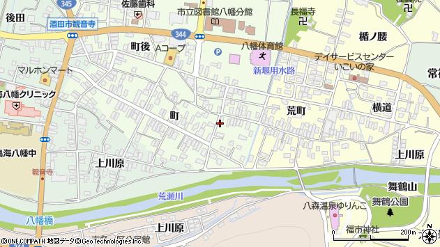山形県酒田市観音寺町40周辺の地図