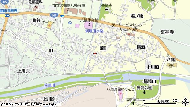 山形県酒田市麓荒町37周辺の地図
