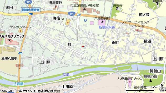 山形県酒田市観音寺町39周辺の地図