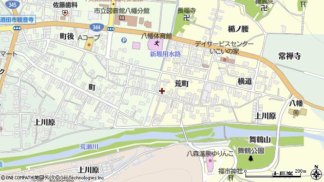 山形県酒田市麓荒町36周辺の地図