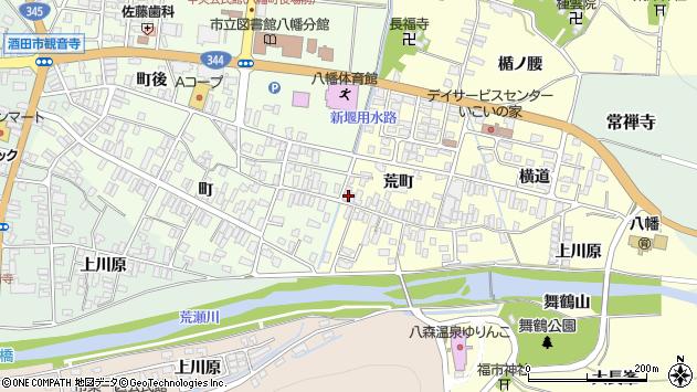 山形県酒田市麓荒町35周辺の地図