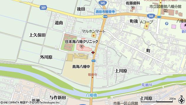 山形県酒田市小泉前田72周辺の地図