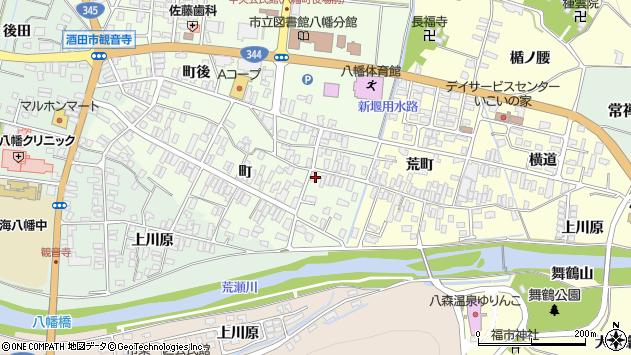 山形県酒田市観音寺町42周辺の地図