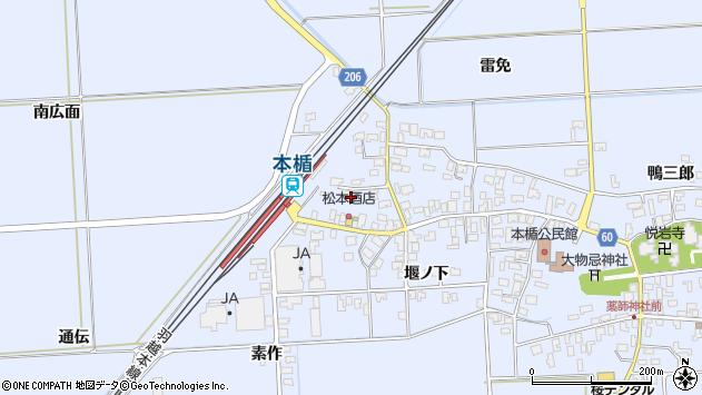 山形県酒田市本楯南広面31周辺の地図