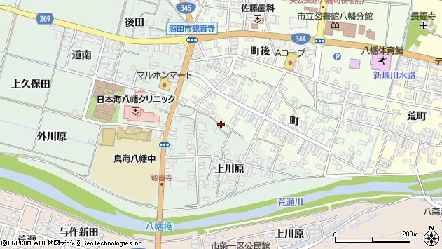 山形県酒田市小泉上川原59周辺の地図