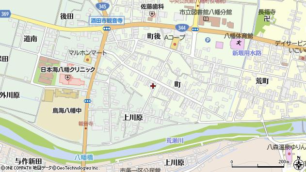 山形県酒田市観音寺町130周辺の地図