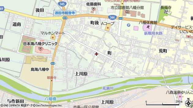 山形県酒田市観音寺町132周辺の地図