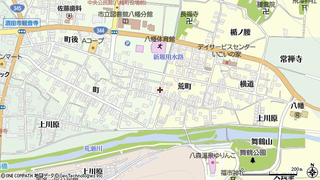 山形県酒田市麓荒町32周辺の地図