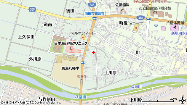 山形県酒田市小泉上川原62周辺の地図