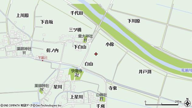 山形県酒田市大豊田白山周辺の地図