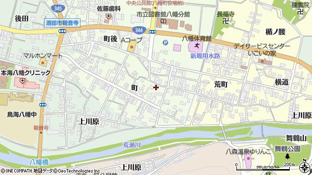 山形県酒田市観音寺町35周辺の地図