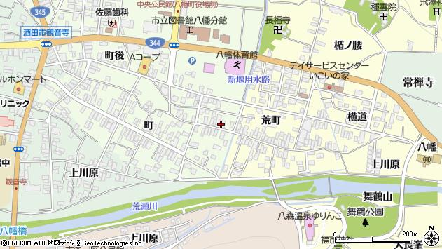 山形県酒田市観音寺町3周辺の地図